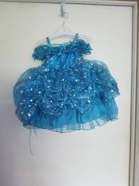 Turquoise Star Child's Dress Chicago