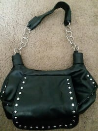 black leather studded crossbody bag Frederick, 21703