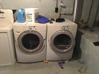 White front-load washer and dryer set 453 mi