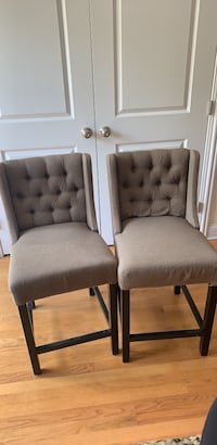 two gray padded chairs with black wooden frame Brookfield, 60513