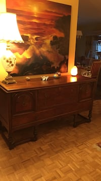Old antique wooden dining room chest Laval, H7W 4X8