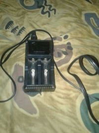 black 18650 battery charger