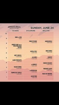 Arroyo secco ticket (1 ticket for Sunday June 24th)  Long Beach, 90815