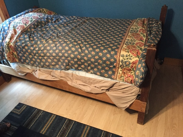 brown and white floral bed comforter