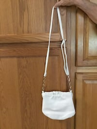 White Deux Lux small woven cross body bag purse