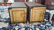 2 antique post office boxes with keys