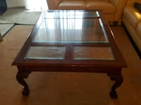rectangular glass top coffee table with brown wooden frame Woodbridge, 22191