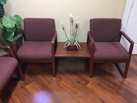 2 Pair of Office Chairs With Attached Table Gaithersburg, 20877