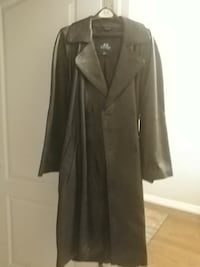Mens Leather Long Coat Aurora, 80018