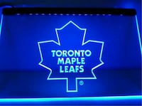"TORONTO MAPLE LEAFS LED NEON SIGN 12""X9"" Vaughan"