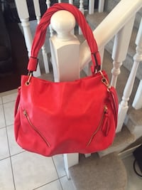 Women's red leather shoulder bag St. Catharines