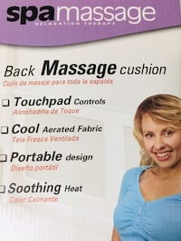 Spa Massage Cushion that heats up and used in home or car