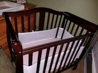 4-in-1 Convertible Mini Crib in Espresso  Huntington Beach