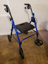 Drive 4 Wheel Sit or Stand Folding Rollator Walker with Hand Brakes