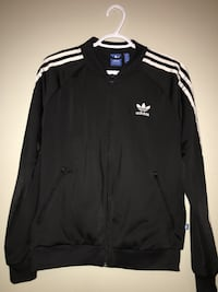 black and white Adidas zip-up jacket Metchosin, V9C 4E4
