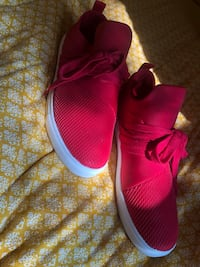 Pair of red Brash shoes, worn once inside Des Moines, 50314