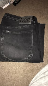 Svart lee denim jeans 6167 km