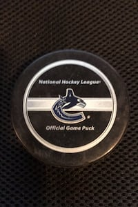 Canucks official game puck Surrey