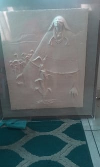 female wall art with frame