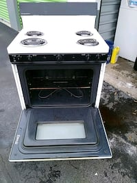 white and black 4-burner gas range oven District Heights, 20747