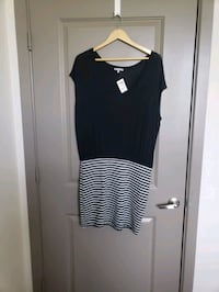 Brand new Black with white stripes Dress. XL.  Frederick
