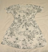 White and blue Floral Dress Vancouver, V6G 2C9