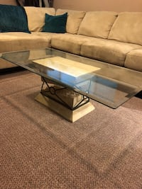 rectangular glass top coffee table Coquitlam, V3J 6X9