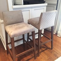 two brown wooden framed gray padded chairs Oshawa, L1K 0L5