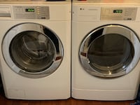 White front load washing machine and dryer set Fairfax, 22033
