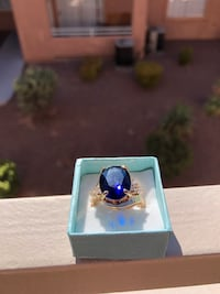 14k gold plated sapphire and diamond ring North Las Vegas, 89032