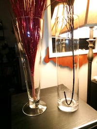 "2 Tall 15.75"" Glass Vases"