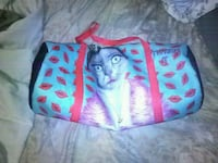 Blue and Pink Bag, with cat print on it. Winchester, 22601