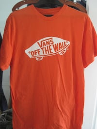 Brand New Vans Off the Wall Brilliant Orange T-Shirt - Medium