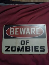 New Beware of zombies sign