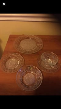5pc crystal place setting new! fantasia by : princess house Essex, 21221