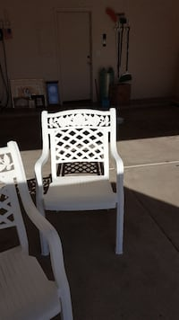 Patio furniture 4 chairs, table, also 3 recliners,