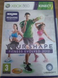 Your Shape Fitness Evolved 2012 Xbox 360 kinect game case