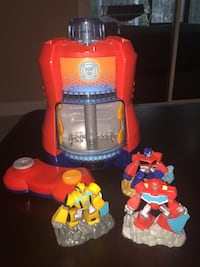 Transformers Rescue Bots Beam Box Video Game System And Game Packs