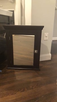 black wooden framed wall mirror Silver Spring, 20906