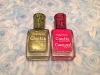 Brand new Sally Hansen crackle overcoat nail polish collection  Toronto, M9M 0A4