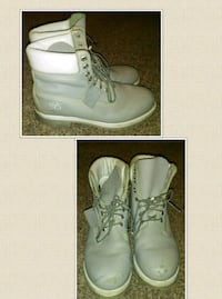 pair of gray Timberland work boots Urbandale, 50322