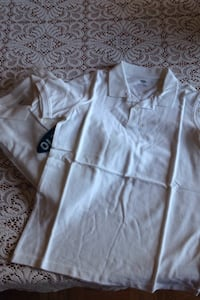 White polo - size L (10-12) great for school BRAND NEw Montréal, H1S 1X9