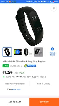 Mi band 2 hrx edition 5 month old Delhi, 110084