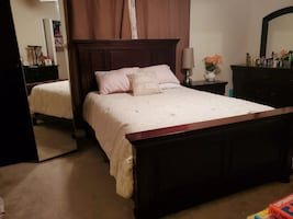 Queen Bed Frame Set (No Mattress)