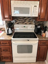 white and black induction range oven East Hanover