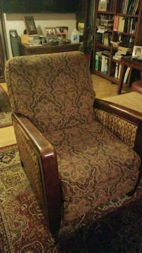 brown wooden framed brown floral padded armchair Woodbridge, 22193