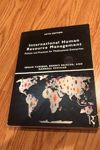 International Human Resource Management Book 5th edition Kings Park, 11754