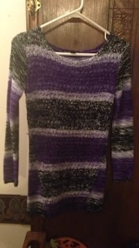 purple and gray scoop-neck sweater Fred, 77660