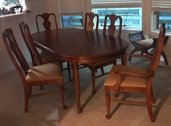 Cool Solid Cherry Dining Table With Chairs Download Free Architecture Designs Grimeyleaguecom