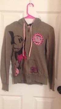 gray and pink Mickey Mouse zip-up hoodie size S for girls  Sauk Rapids, 56379